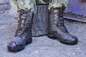 Army Uniform Military Boots And Military Pants poster