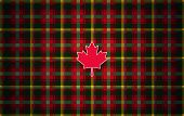 Canadian Maple Leaf Tartan. Abstract Modern Background Inspired By The National Tartan Of Canada. It poster