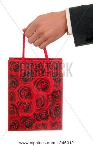 Bolsa de regalo de explotación de la mano