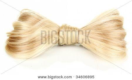 Brillante pelo rubio-pin aislado en blanco