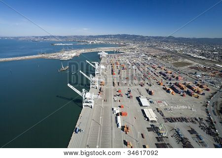 The Oakland Outer Harbor Aerial