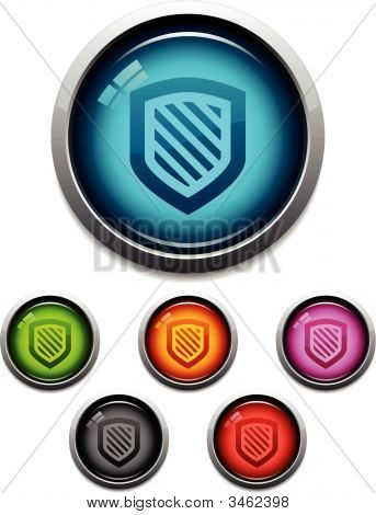 Shield Glossy Icons