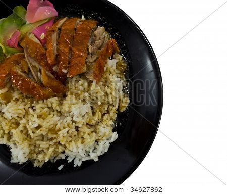 Roasted Duck Over Rice