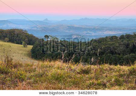 Duck Road Border Ranges Australian Background