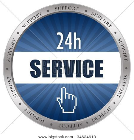 Service icon isolated on white