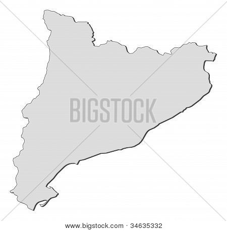 Map Of Catalonia (spain)