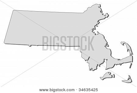 Map Of Massachusetts (united States)