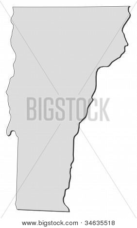 Map Of Vermont (united States)