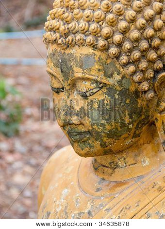 Ancient Buddha In Thailand.