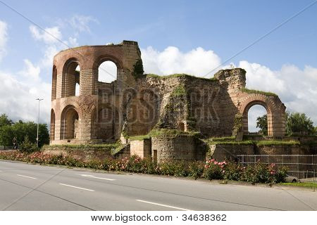 Ruins Of Imperial Thermae In Trier, Germany