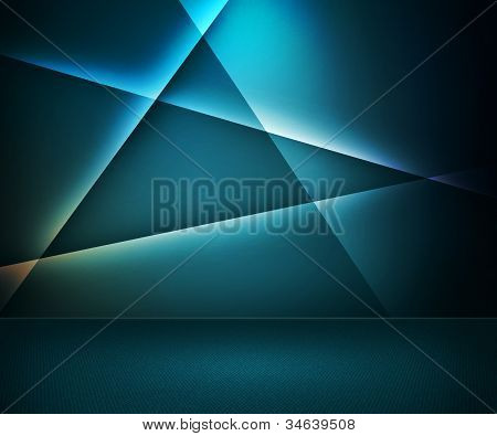 Blue Abstract Room