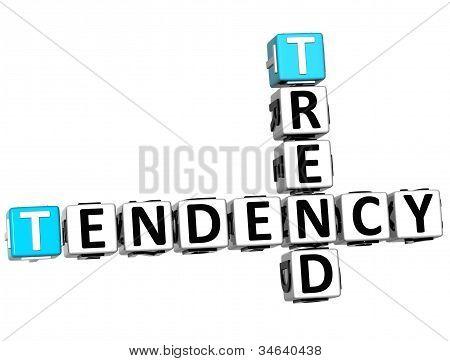 3D Trend Tendency Crossword