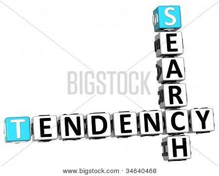 3D Search Tendency Crossword