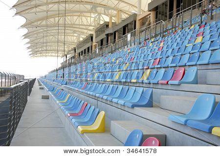 Seating arrangment in main grandstand of Bahrain International Circuit