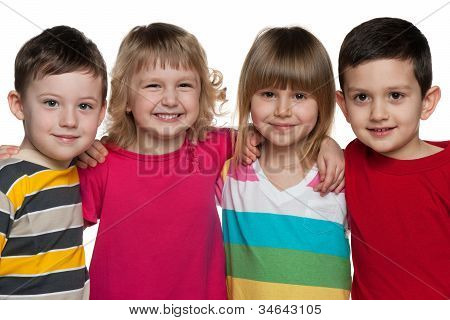 Group Of Four Kids