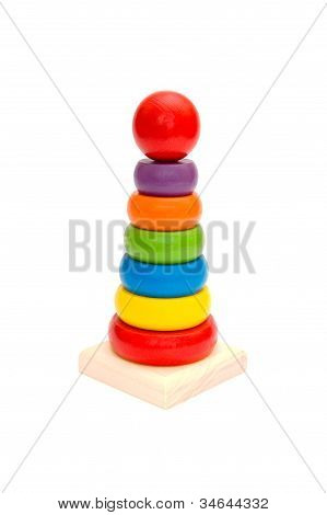 Child Toy Wooden Colorful Tower