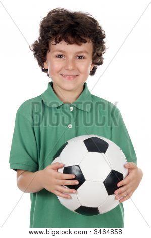 Adorable Boy With Ball