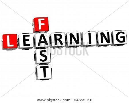 3D Fast Learning Crossword