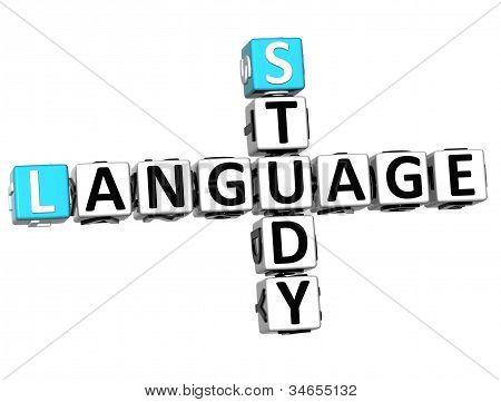 3D Study Language Crossword