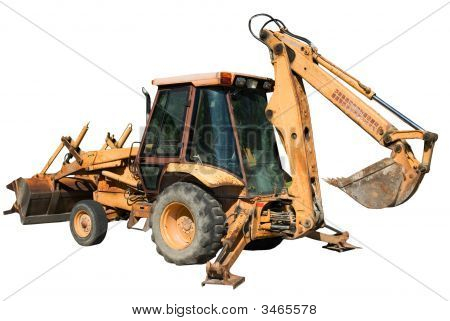 Isolated Backhoe