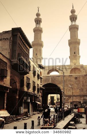 Bab Zuwayla - Southern Gate - historical building in Cairo. Inside view