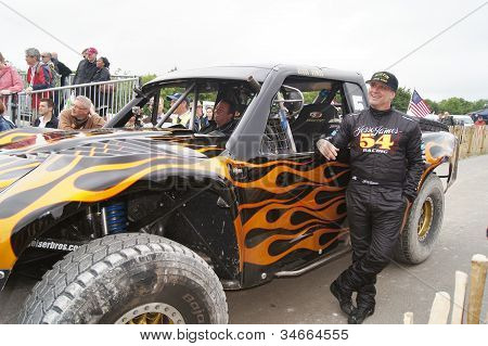 Jesse James with his desert Trophy Truck
