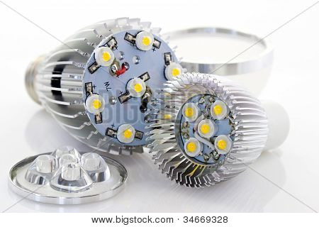 Powerful Led Bulb E27 And Gu10 With Removing Covers The Dispersion And Reduction Of The Light Emitte