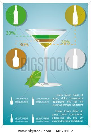 martini cocktail infographics