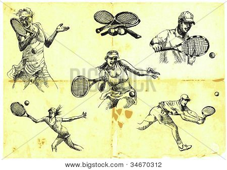 tennis - hand drawing