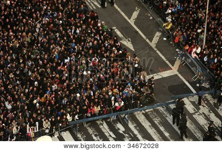 Crowds Gather To Celebrate New Years Eve In New York