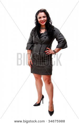 Beautiful Mature Mexican Business Woman Wearing A Suit