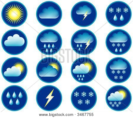 Symbols For The Indication Of Weather.