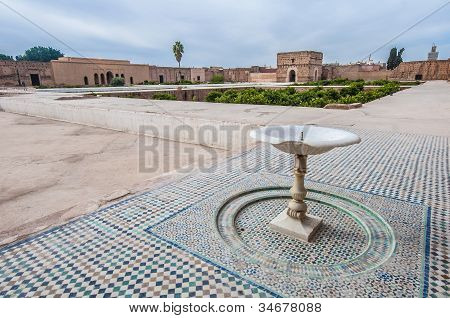 El Badi Palace Yard At Marrakech, Morocco