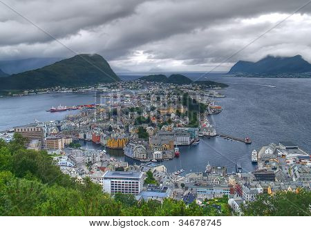 Storm, Alesund, Norway
