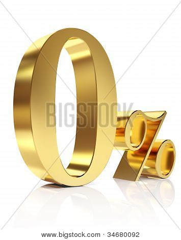 Zero percent 3D in gold