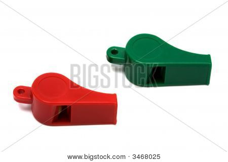 Red And Green Whistle