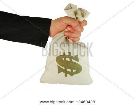 Bag Of Money In Hand