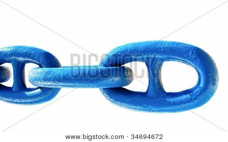 old chain (anchor) isolated on white