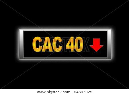 CAC 40 negativ.