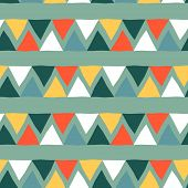 Abstract Seamless Pattern With Graphic Elements - Triangles.  Avant-garde Collage Style. Geometric W poster