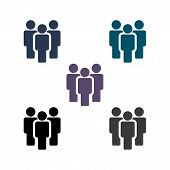 People Vector Icon. Person Symbol. Work Group Team. Persons Crowd Vector Illustration Icon. Group Of poster