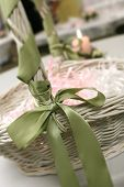 foto of unity candle  - Basket of bubbles at a wedding reception - JPG