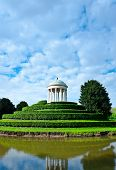 image of vicenza  - Rotunda in the Center of the Pond in Querini Park Vicenza - JPG