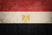 Grunge Egypt Flag. Egyptian Flag With Grunge Texture. poster