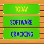 Conceptual Hand Writing Showing Software Cracking. Business Photo Text Modification Of Software To R poster