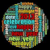 Happy New Year in word collage
