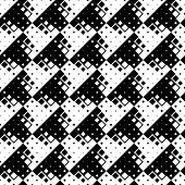 Seamless Geometrical Rounded Diagonal Square Pattern Background Design - Monochrome Vector Graphic F poster