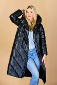 Back In Black. Finding Right Winter Jacket Is Essential To Enjoyable Winter Season. Gorgeous Fashion poster