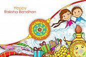 pic of kalash  - illustration of rakhi on Raksha Bandhan doodle - JPG