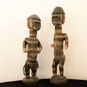 Two Wooden Sculptures From Congo. Featering Two Warriors poster